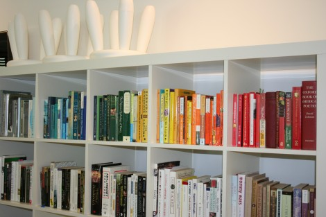 Gradation In Interior Design rainbow book shelves | the wordy girl